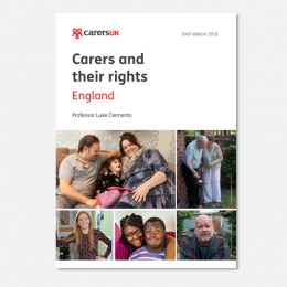 Carers and their Rights (England) PACK OF 5